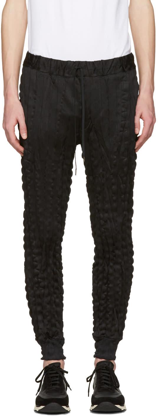 Issey Miyake Men Black Wrinkled Trousers