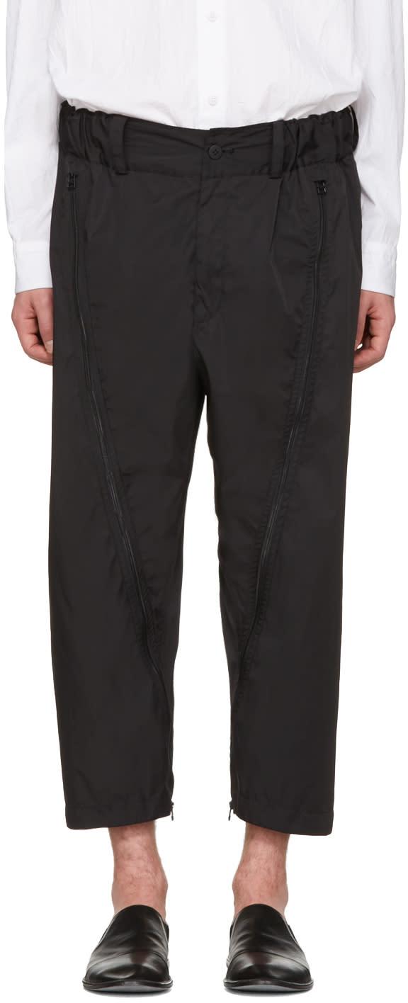 Issey Miyake Men Black Adjustable Silhouette Trousers