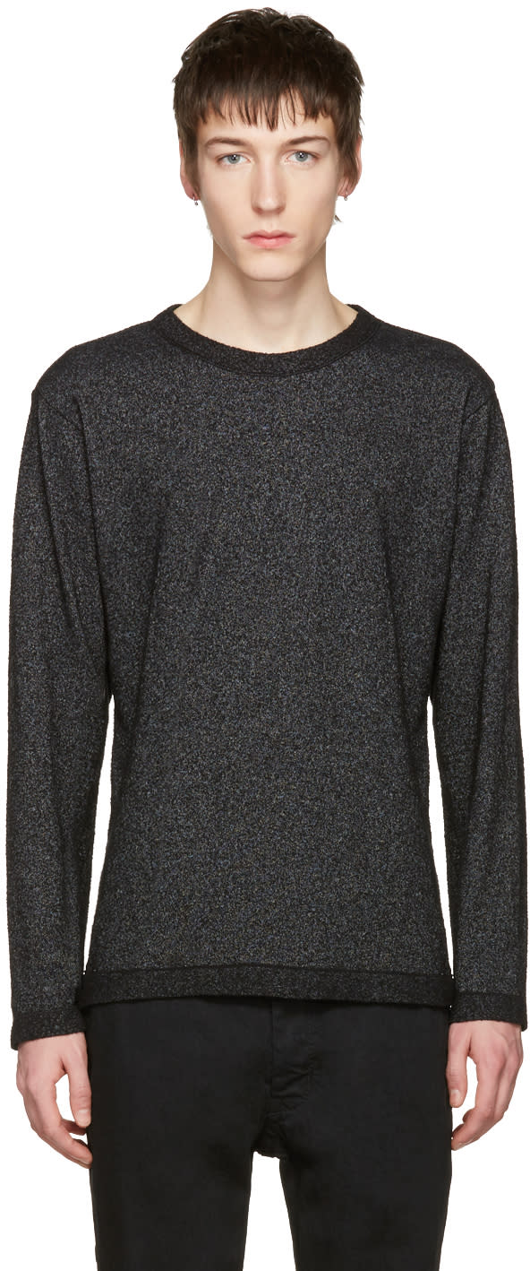 Issey Miyake Men Black Boucle Pullover