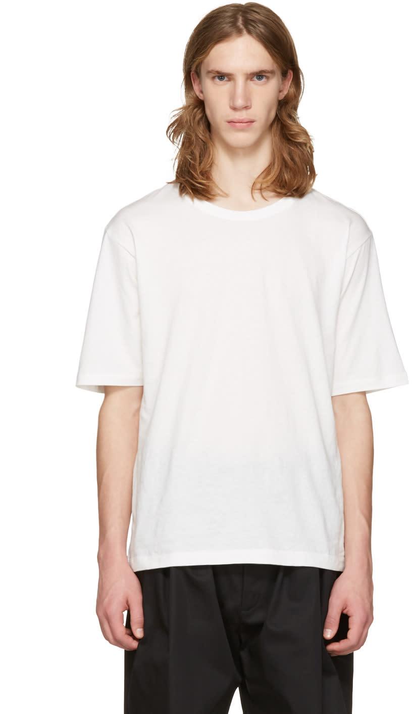 Issey Miyake Men White Bio Cotton T-shirt