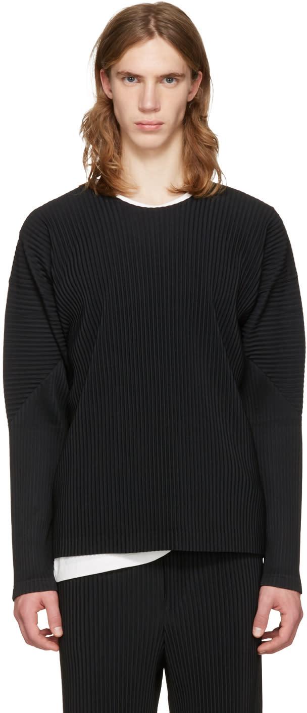 Homme Plissé Issey Miyake Black Classic Pleats Long Sleeve T-shirt