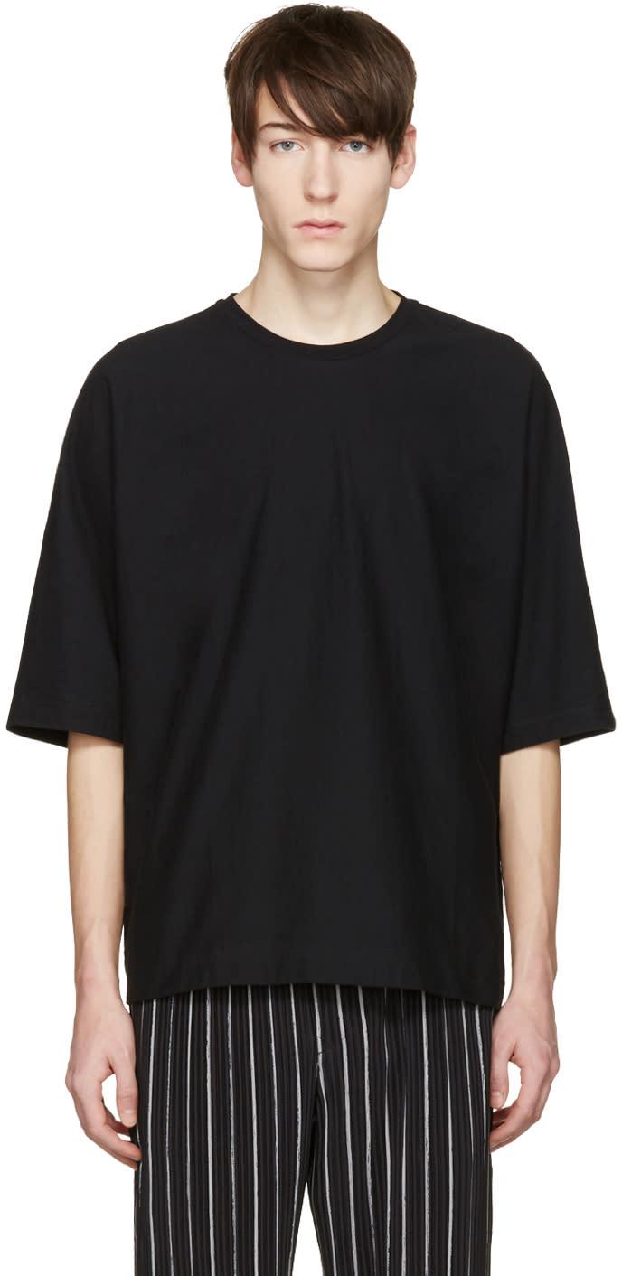 Homme Plisse Issey Miyake Black Bat Sleeve T-shirt