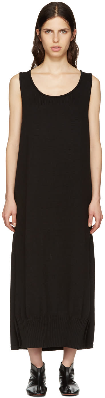 Ys Black Long Tank Dress