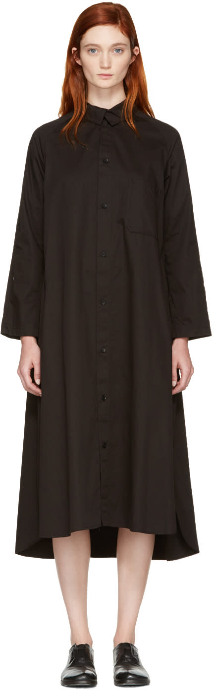 Ys Black Shirt Dress