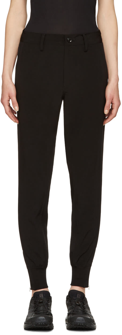 Ys Black Slim Trousers