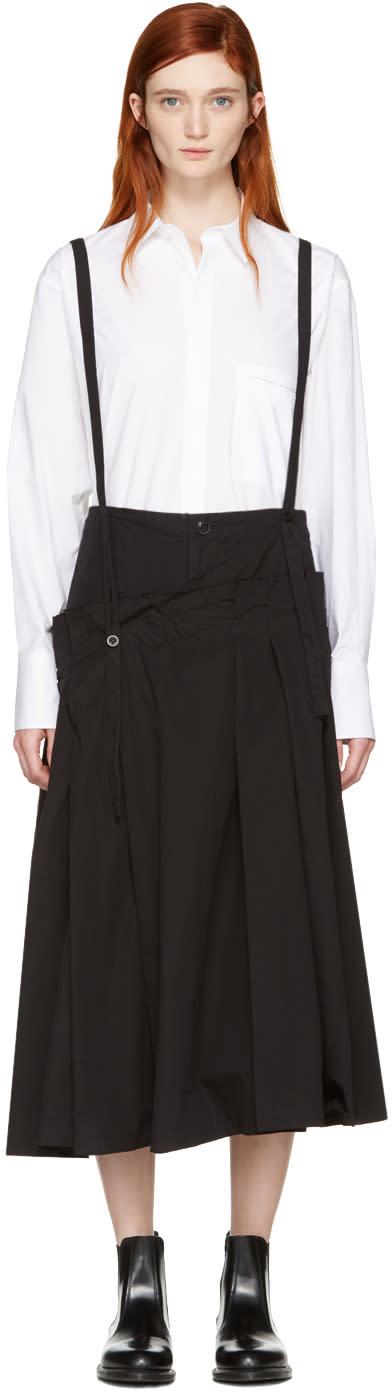 Ys Black Long Suspender Skirt