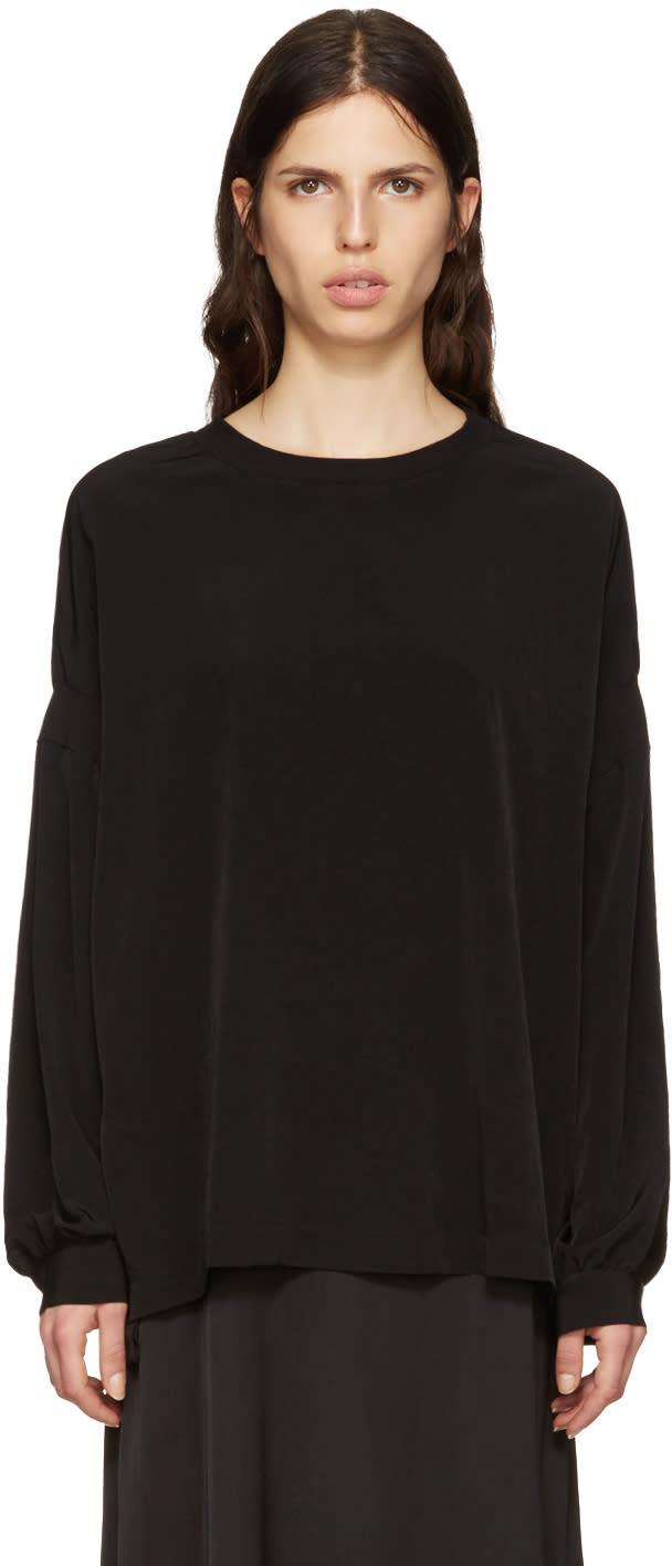 Ys Black Satin Pullover