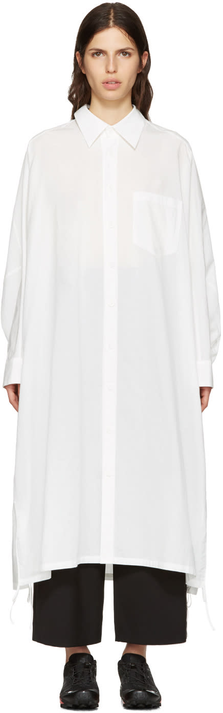 Ys White Dolman Shirt Dress