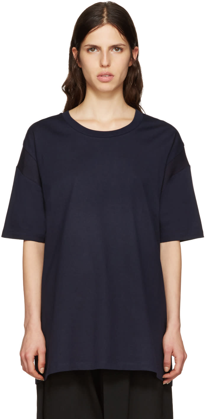 Ys Navy All Needles Big T-shirt