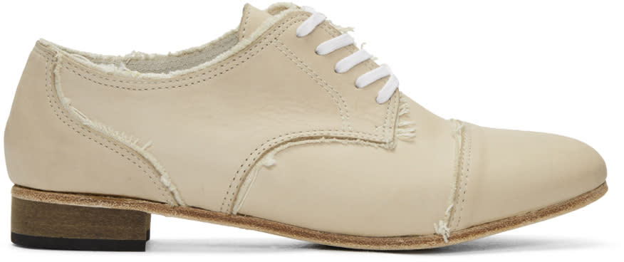 Ys Beige Leather Derbys