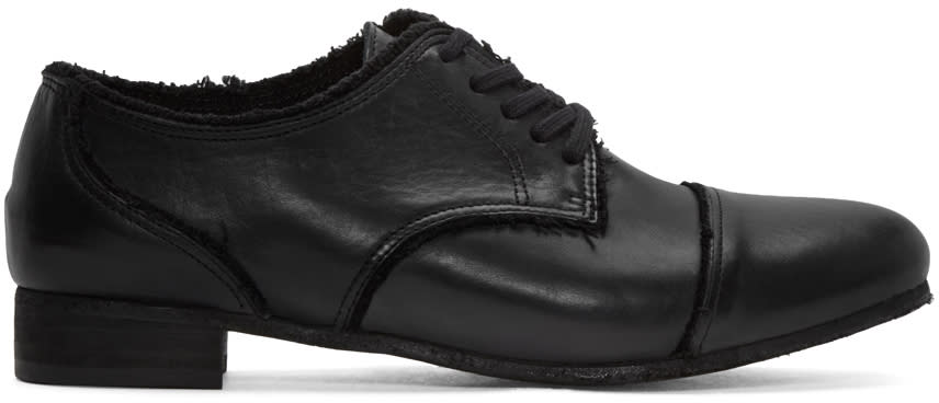 Ys Black Leather Derbys