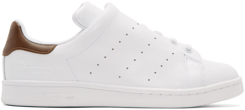 Ys White Adidas Originals Edition Diagonal Stan Smith Sneakers
