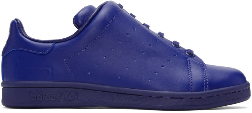 Ys Blue Adidas Originals Edition Diagonal Stan Smith Sneakers