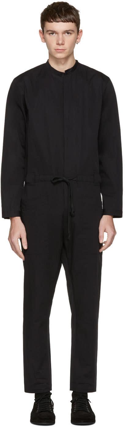 Isabel Benenato Black Cotton Jumpsuit