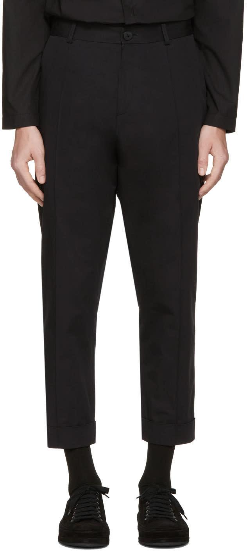 Image of Isabel Benenato Black Cotton Trousers
