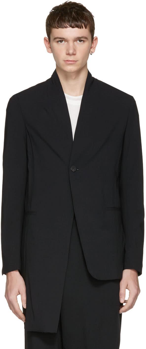 Isabel Benenato Black Asymmetric Blazer