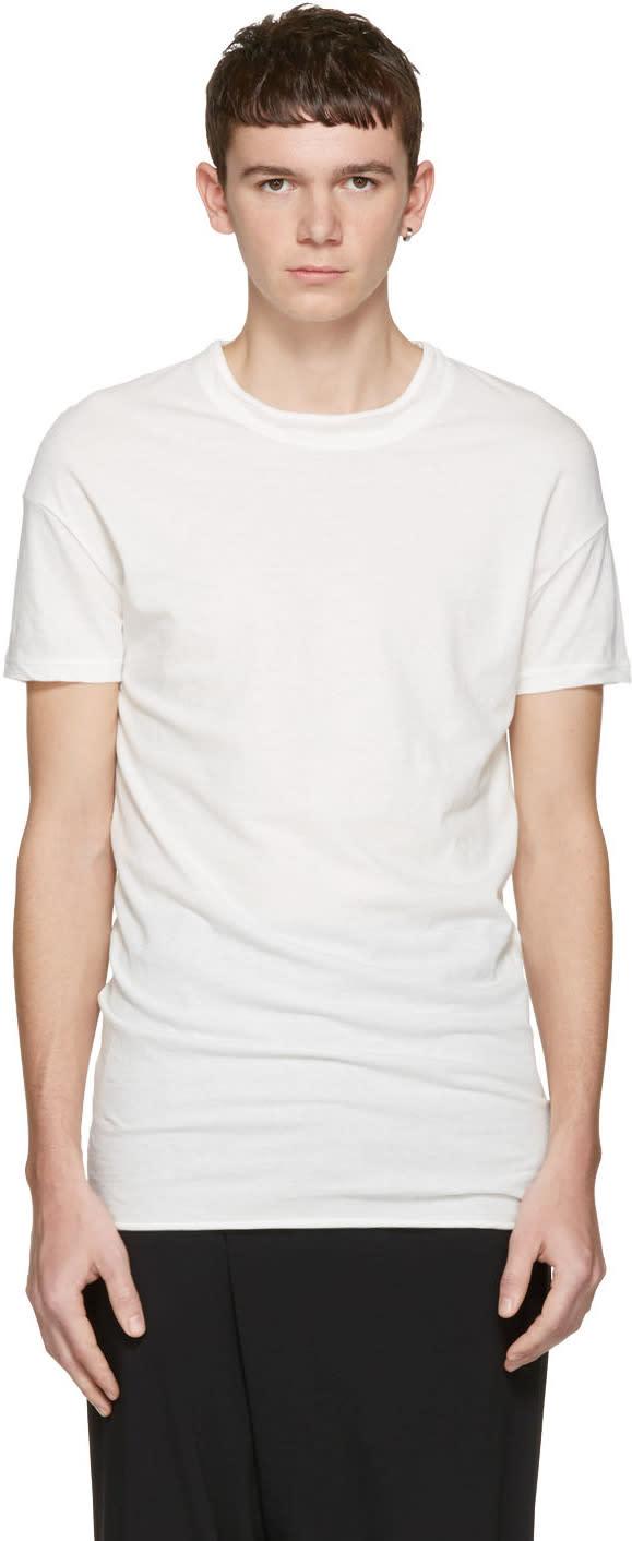 Isabel Benenato White Double Collar T-shirt