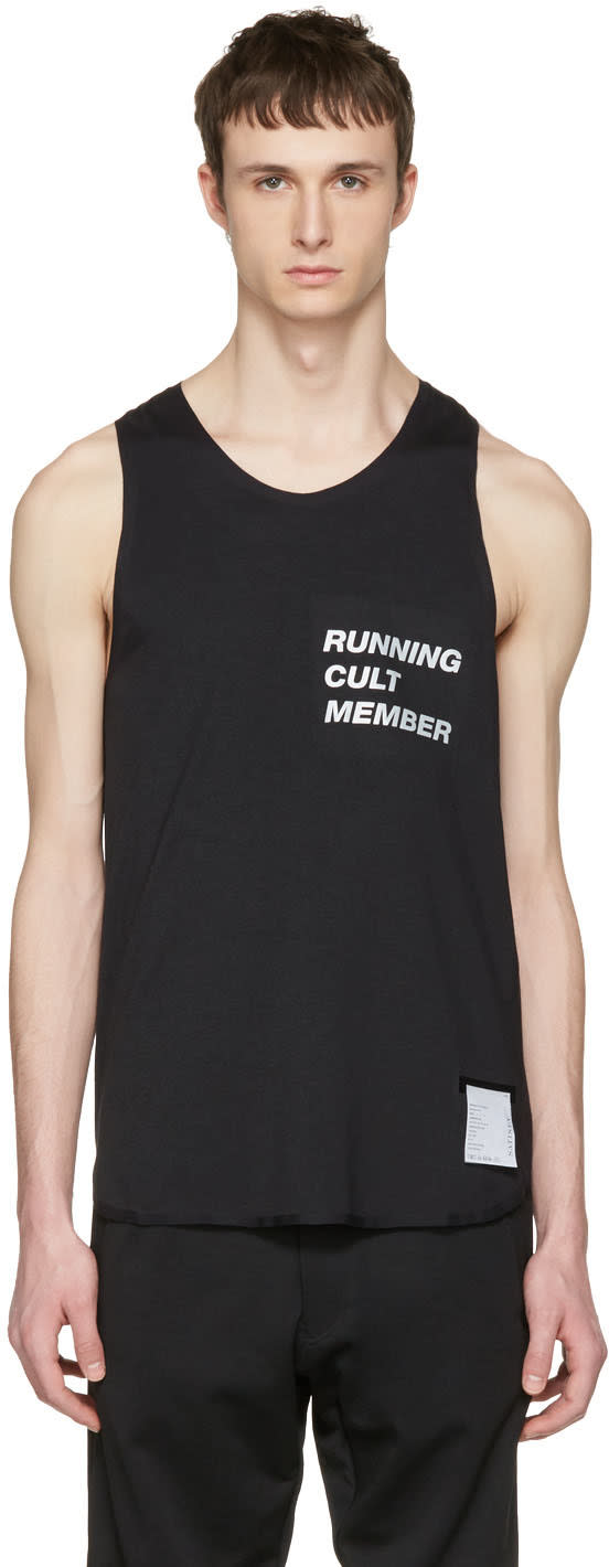 Satisfy Black Cult Singlet Tank Top