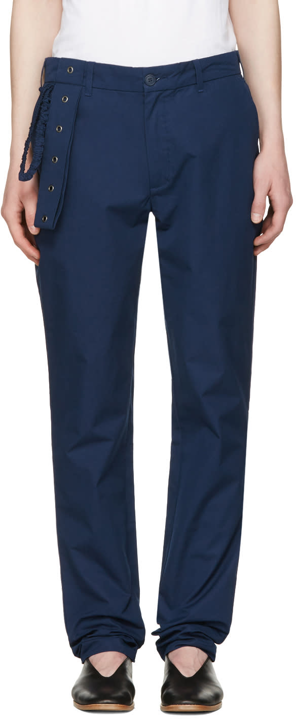 Craig Green Navy Slim Trousers