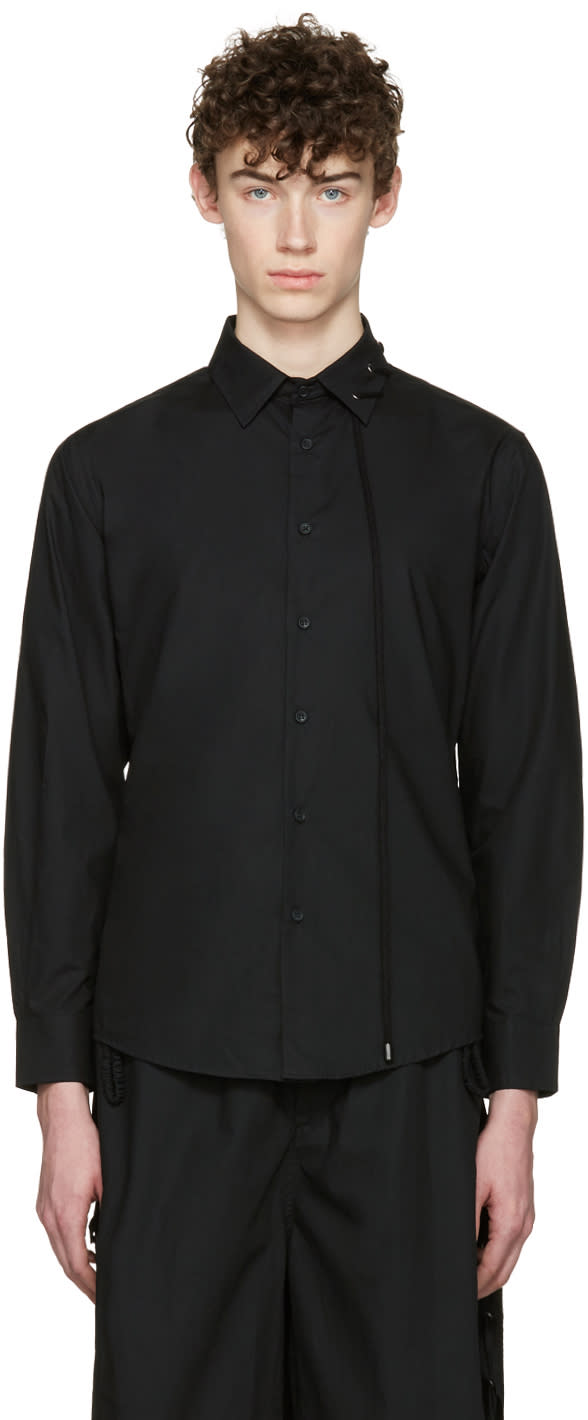 Craig Green Black Cotton Laced Shirt