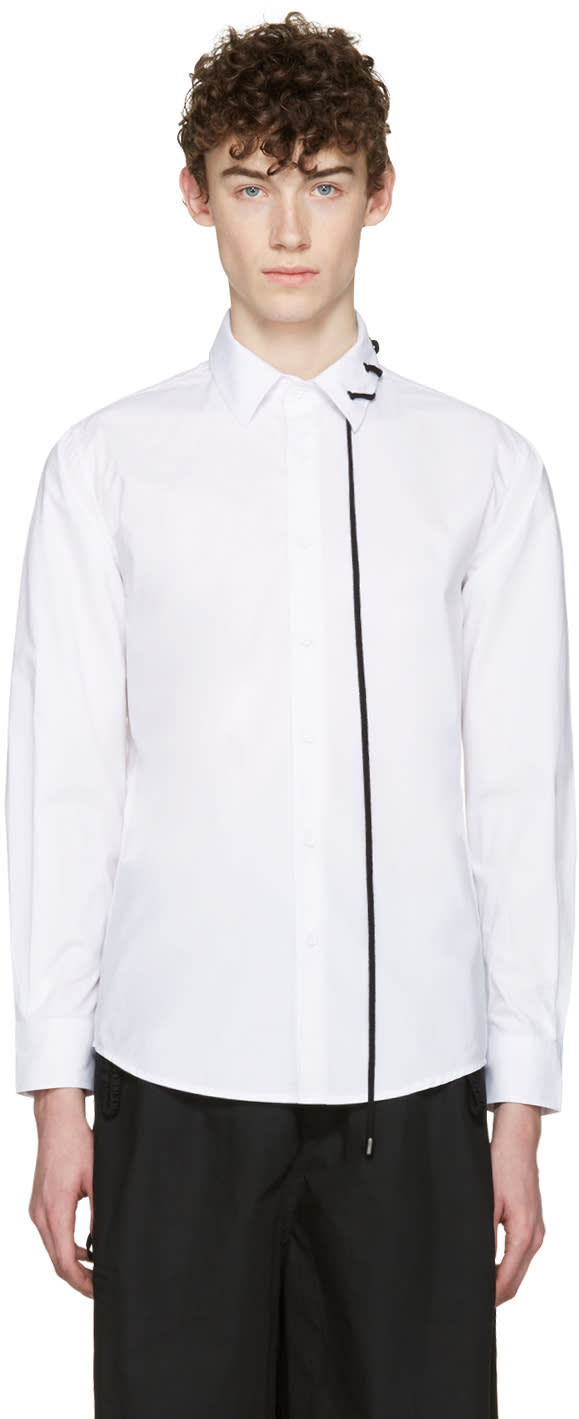 Craig Green White Lace-up Collar Shirt