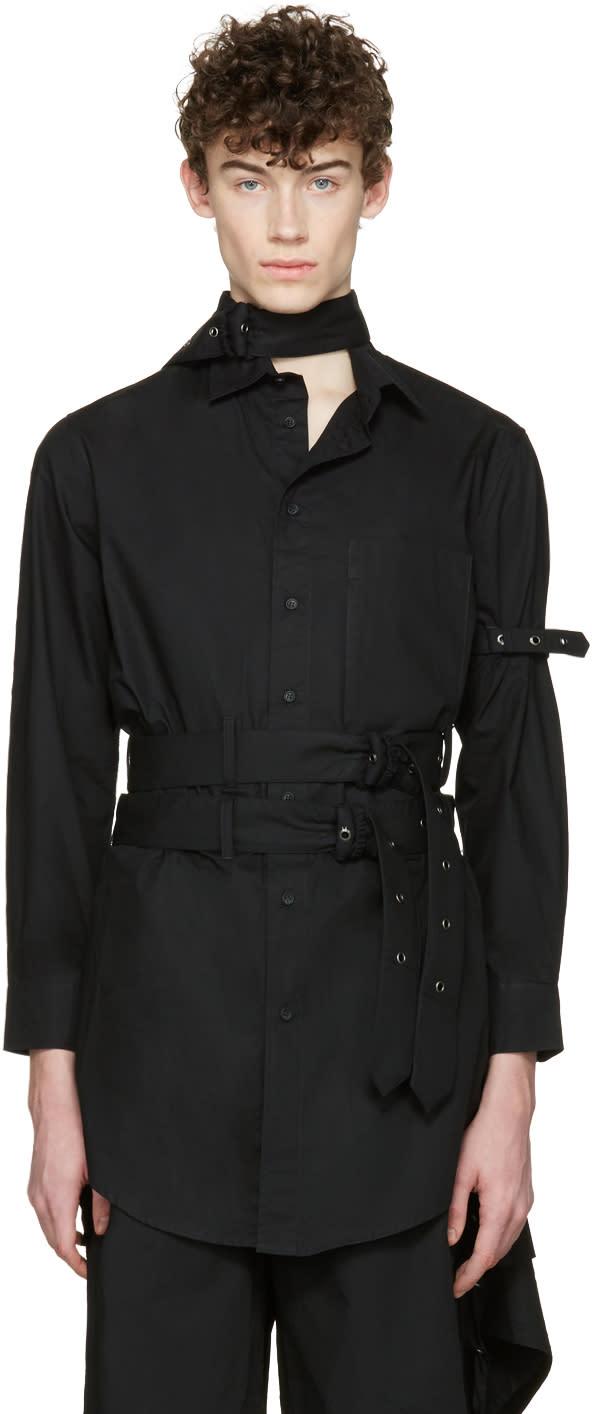 Image of Craig Green Black Cotton Long Shirt
