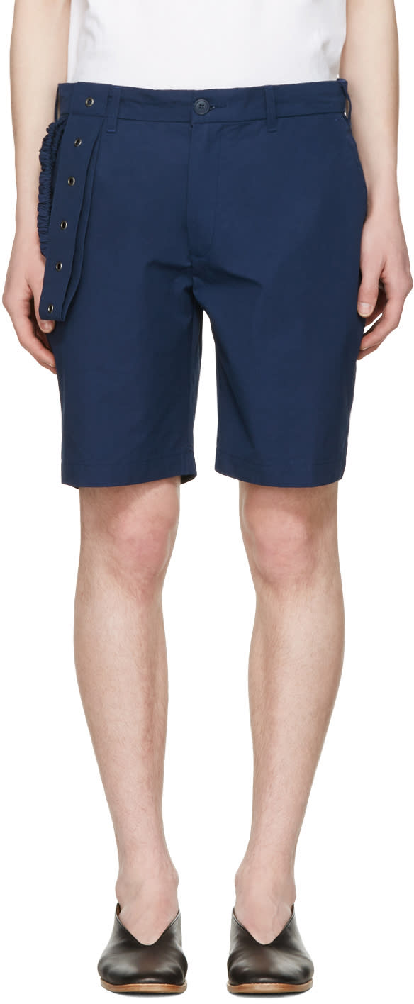 Craig Green Navy Slim Shorts