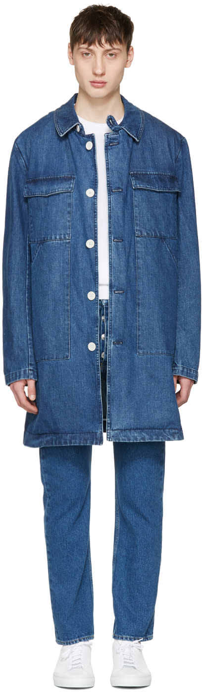 Sunnei Blue Denim Long Pocket Jacket