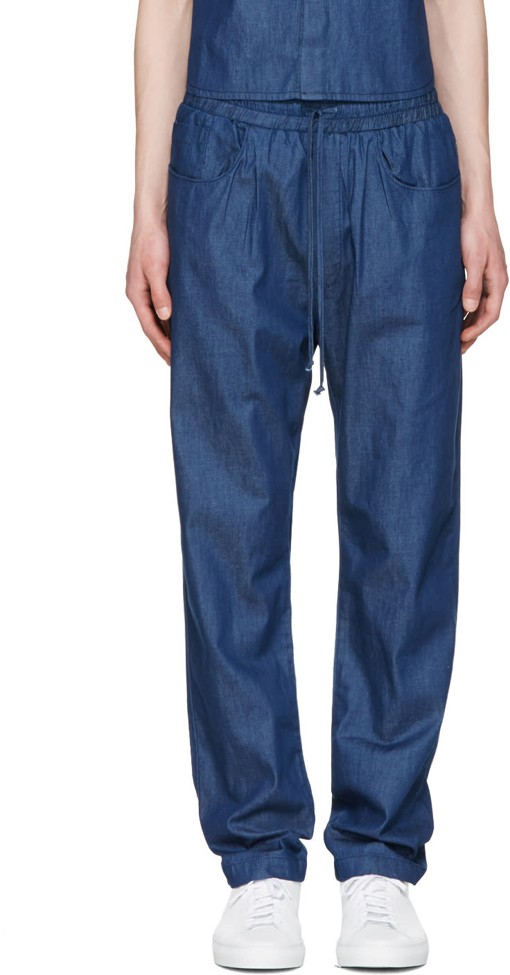 Sunnei Indigo Chambray Trousers