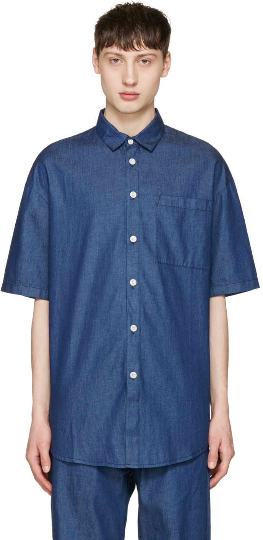 Image of Sunnei Indigo Chambray Shirt