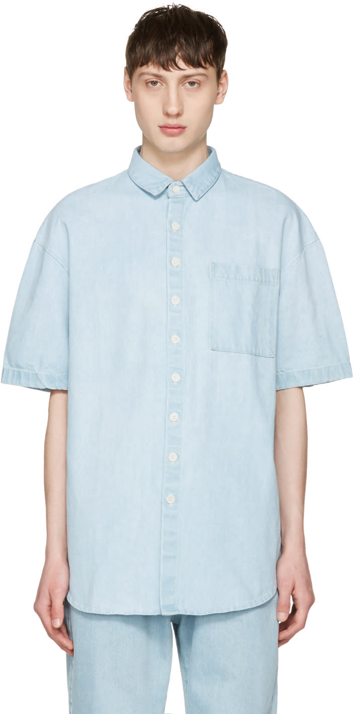 Sunnei Blue Denim Pocket Shirt