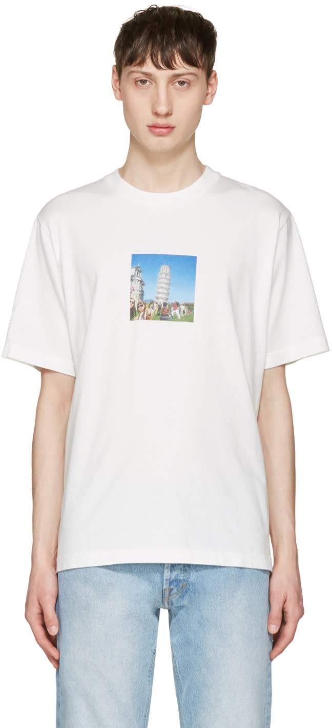 Sunnei White Pisa Tower T-shirt