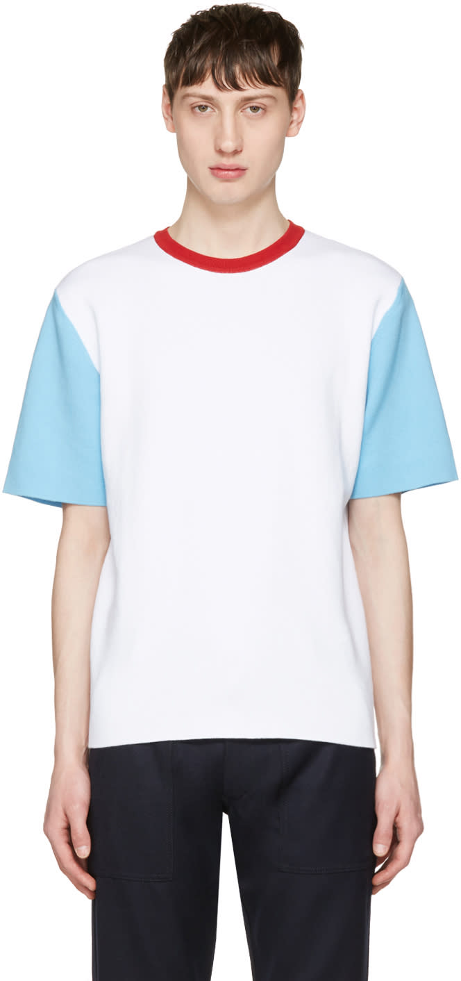 Sunnei White Colorblock T-shirt