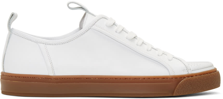 Sunnei White Perforated Cap Sneakers