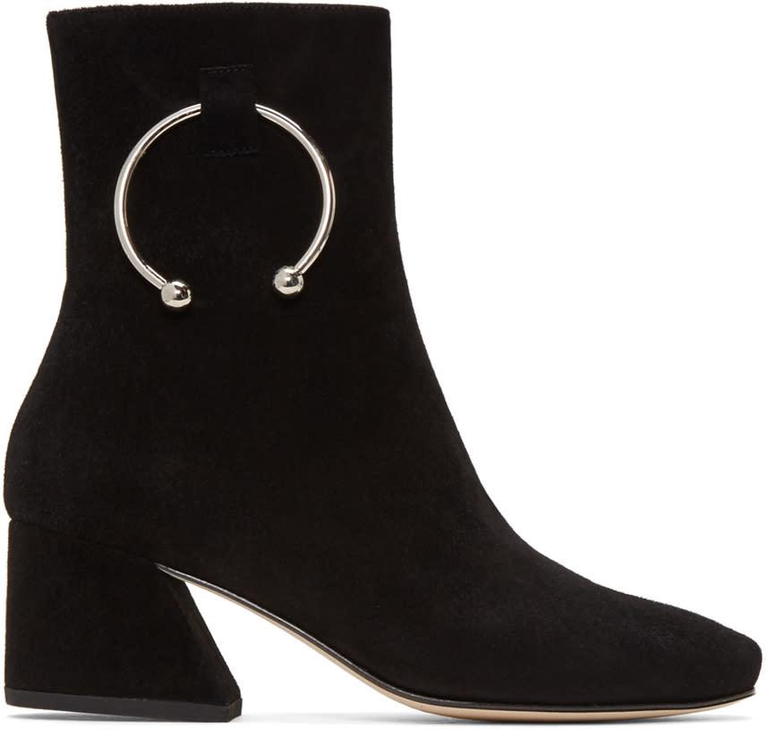 Dorateymur Black Suede Nizip Boots