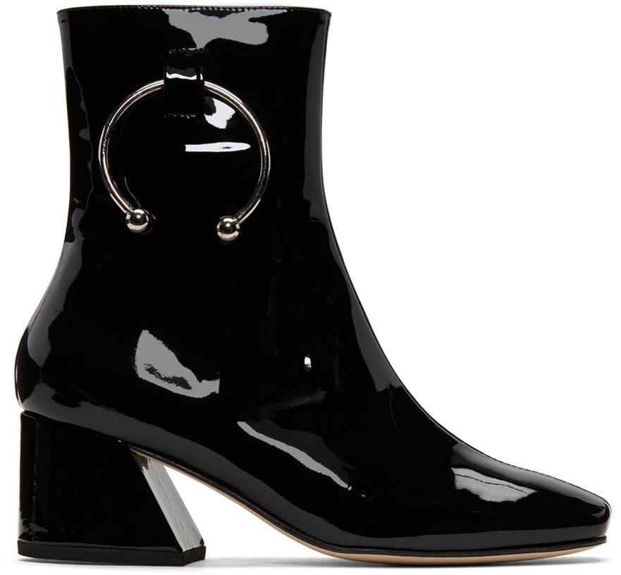 Image of Dorateymur Black Patent Nizip Boots