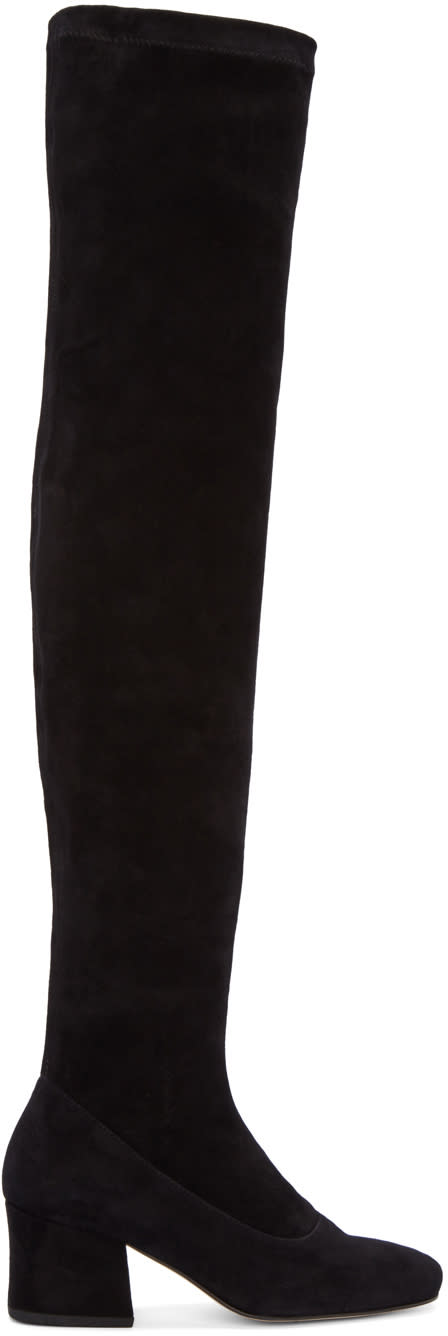 Dorateymur Black Suede Sybil Over-the-knee Boots