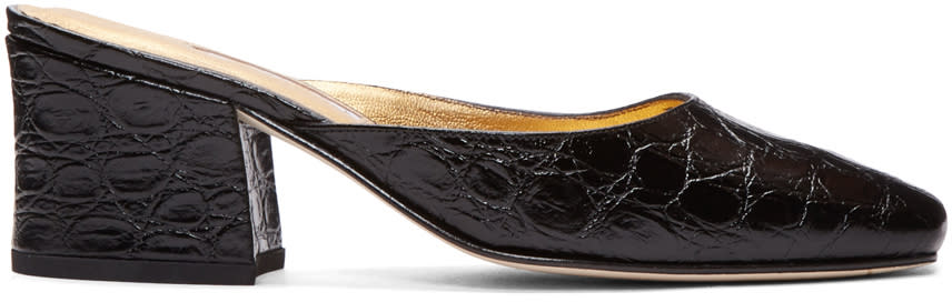 Dorateymur Black Model Z Slip-on Heels