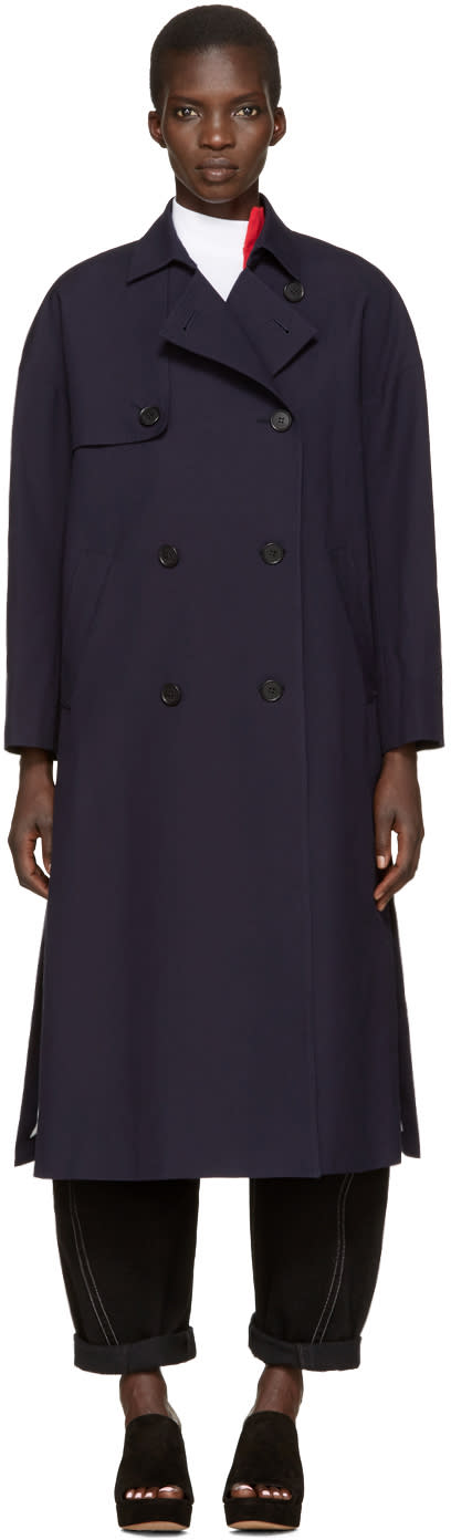 Enfold Navy Trench Coat