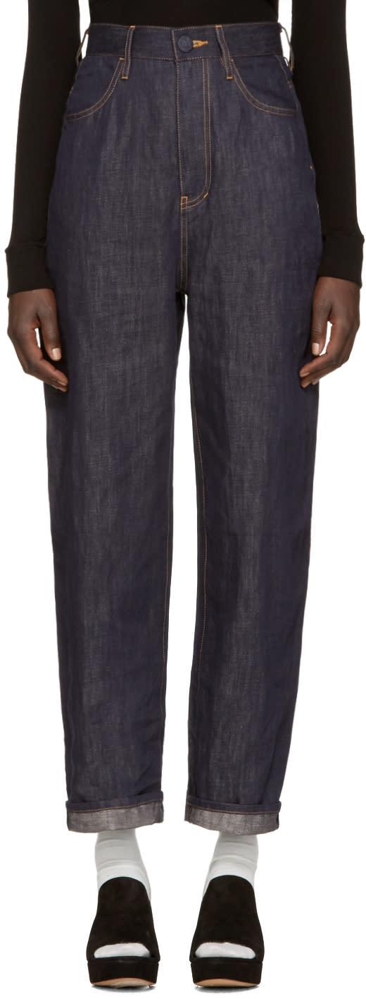 Enfold Blue Wide-leg Jeans