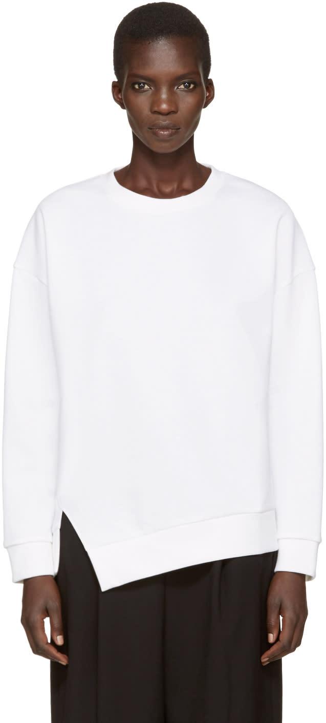 Enfold White Twisted Sweatshirt