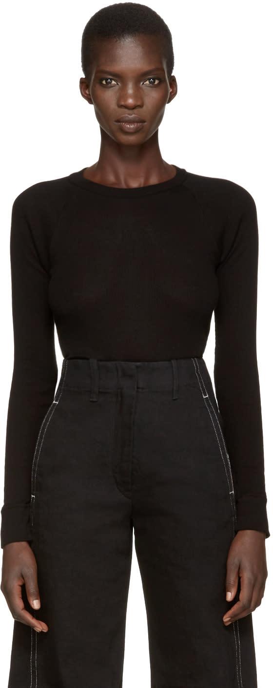 Enfold Black Ribbed T-shirt