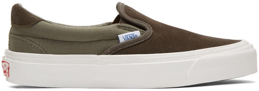 Vans Khaki Og Classic Lx 59 Slip-on Sneakers