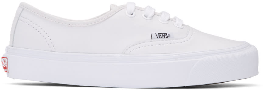 Vans White Leather Og Authentic Lx Sneakers