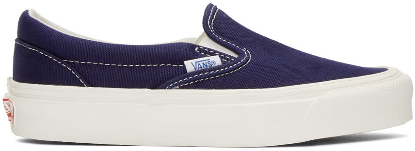 Vans Navy Og Classic Lx Slip-on Sneakers