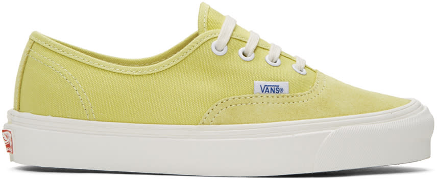 Vans Yellow Og Authentic Lx Sneakers