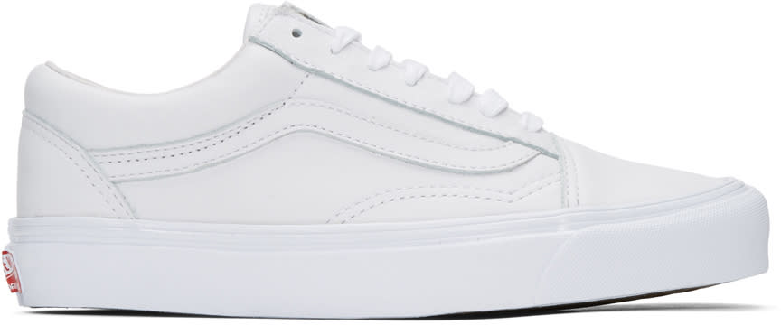 Vans White Ua Og Old Skool Lx Sneakers