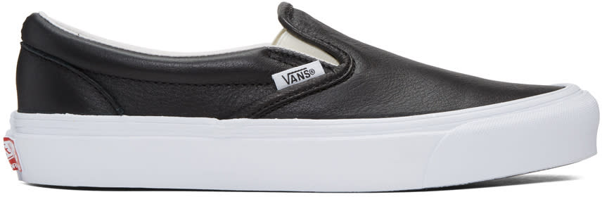 Vans Black Ua Og Classic Lx Slip-on Sneakers