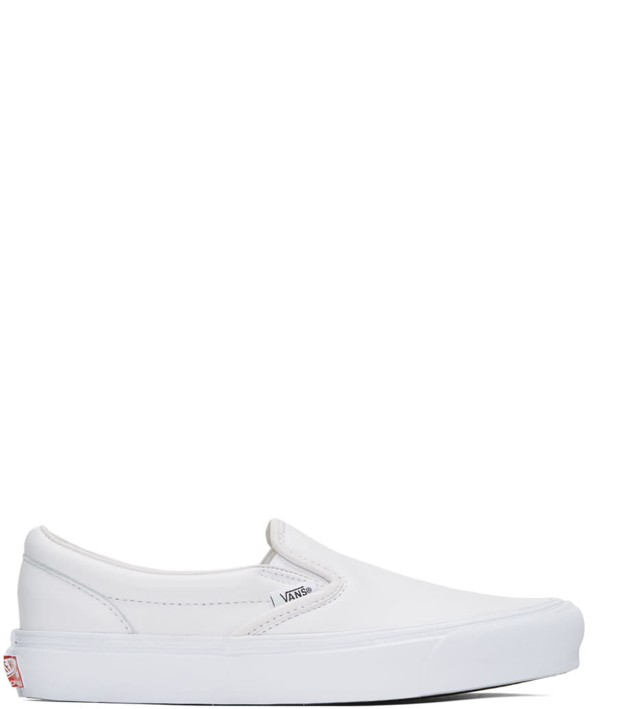 Vans White Ua Og Classic Lx Slip-on Sneakers