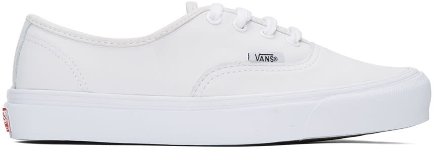 Vans White Ua Og Authentic Lx Vl Sneakers